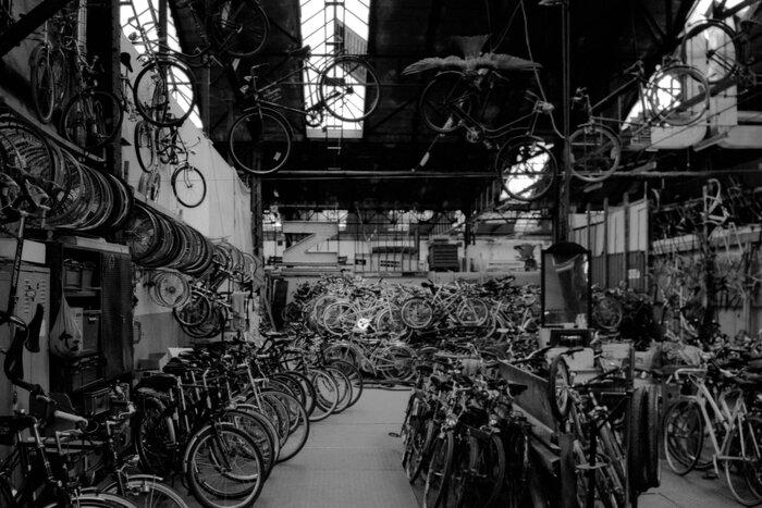 Fahrradwerkstatt in den Wagenhallen