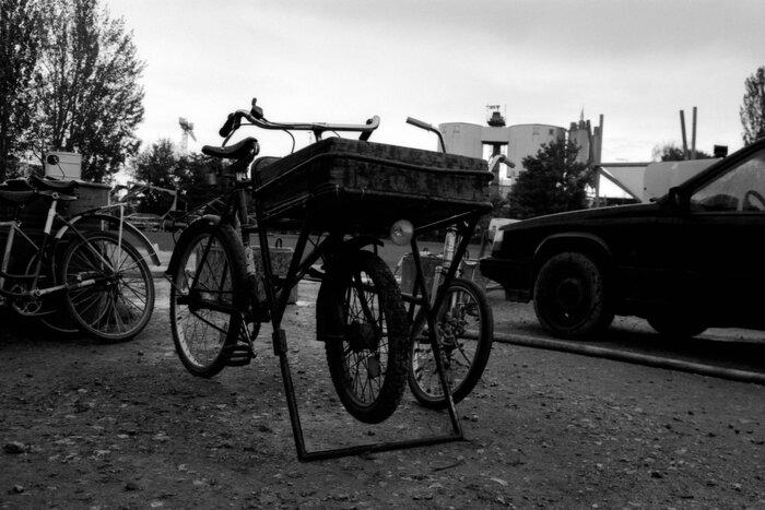 Transportfahrrad mit Kiste